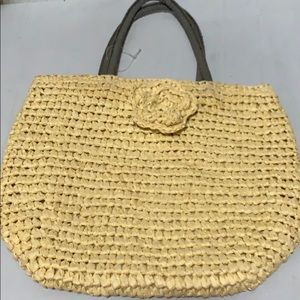 NWOT Neiman Marcus straw bag